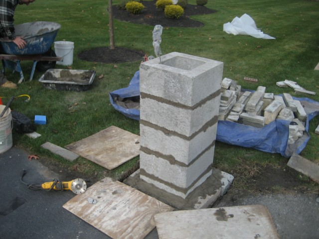 Stone Columns For Driveways : Dempski masonry stone mason stonework flagstone kingston